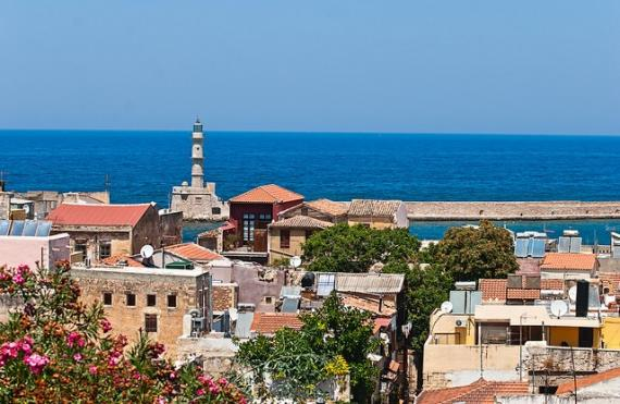 Panoramic view of Chania city. - Chania