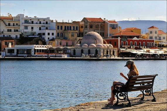 skyline with mosque of chania - Chania
