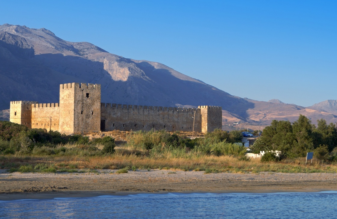'Fragokastelo castle and beach at Crete island in Greece' - Chania