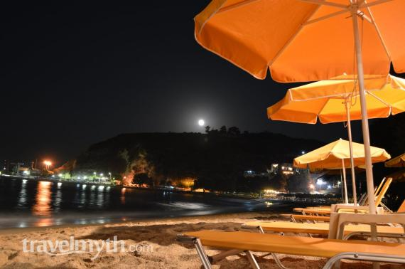 Fullmoon at Kalives beach