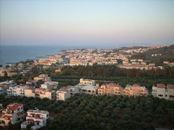 view from platanias hill - Chania